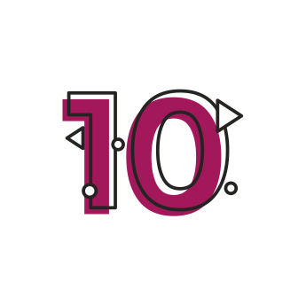 Icon of numeric number ten