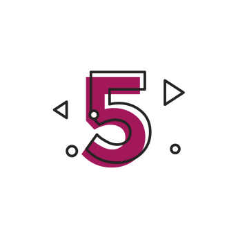 Icon of numeric number five