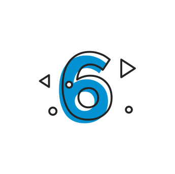 Icon of numeric number six